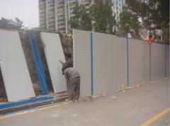 深圳厂家大量彩钢板围档彩钢泡沫夹心板围挡施工围挡工地围墙