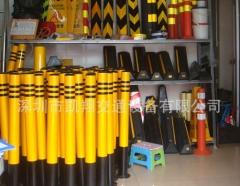深圳交通厂家自产自销钢管防护桩反光柱道口警示柱活动式防护桩