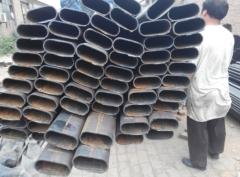 镀锌异型管 平椭圆管钢管20*40*2.0 椭圆铁管 冷拉平椭圆铁管 40*40