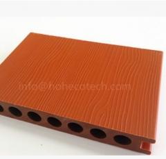 二代共挤木塑 新技术复合材料共挤木塑地板 138*23mm圆孔户外地板