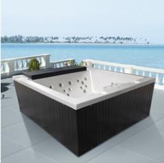厂家直销冲浪按摩SPA浴缸进口亚克力 恒温加热户外浴缸M-3369
