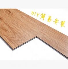 锁扣木纹pvc塑料地板厂家 办公室用耐磨环保免胶拼装石塑地板批发 OS-033