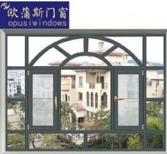 铝合金门窗定制断桥非断桥窗纱一体平开窗推拉窗 200*180