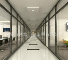 铝隔墙 做铝合金高隔断 深圳铝合金隔间 尺寸定制