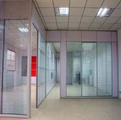 定制办公铝百叶隔断 生产双层钢化中空玻璃隔墙 尺寸定制