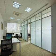 高隔断定制简约铝合金办公屏风款示多多玻璃高隔间图 尺寸定制
