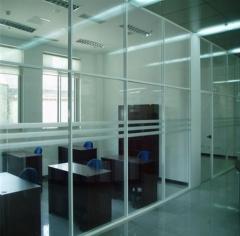 定制高档酒店高隔断墙生产铝合金高隔墙多款中空钢化玻璃高隔间 尺寸定制