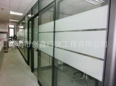 专业定制会议厅铝合金高隔断做中空玻璃隔断 规格定制