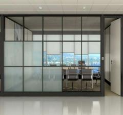 定制双玻百叶高间隔墙 生产办公铝合金高隔断隔墙 尺寸定制