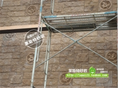 杭州莱斯特艺术砂岩板材壁画室内外立体装饰正品爆款四神兽仿青铜