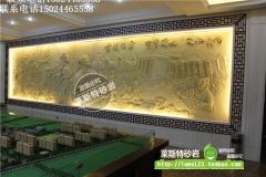 杭州莱斯特 人物沙岩浮雕壁画背景墙装饰/中式装饰装潢材料—人物