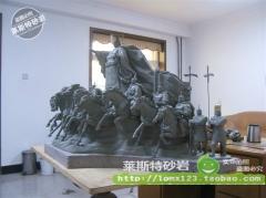 定制 定做砂岩圆雕 工艺品园林雕塑壁画 公园摆件 玻璃钢人物圆雕泥稿