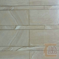 厂家加工砂岩板材 棕木纹砂岩 广场雕塑景观装饰砂岩雕刻 1500*100*1500