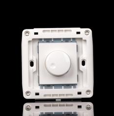 美尚V6雅白 86型墙壁开关插座面板 电子旋钮调速开关吊扇调速开关