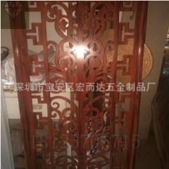 深圳厂家 201 304不锈钢木纹板 KTV 会所装潢热转印背景彩色板 1-9