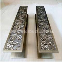 深圳厂家 精品玻璃门拉手 铝雕刻门把手 酒店不锈钢五金配件 举报 1-9