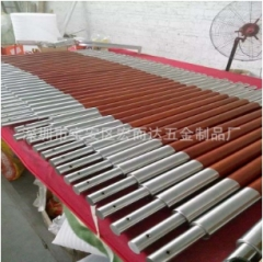 厂家批发木纹璃门拉手 双开大门把手 异形不锈钢扶手可定制 1-9