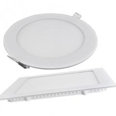 厂家直销超薄面板灯 led 圆形面板灯 3w6W9w12w15w18w24w超薄筒灯