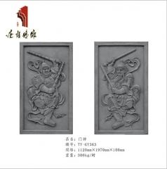 唐语砖雕影壁挂件类唐语砖雕 高档TY-GY363影壁砖雕门神