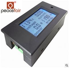 直流多功能数显电压电流功率电能表头电动车光伏液晶数显表100V