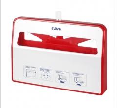 瑞沃瀑布系列VX781马桶座便纸架挂墙式马桶坐垫纸架1/2坐垫纸适用 白色