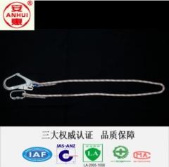 安惠厂家直销单绳大钩无缓冲包保险绳减震绳高空作业保 1 绳长(1.5米)1-100条