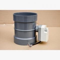 PVC/PP电动风阀 风量调节阀门 PVC风阀圆形塑料风阀 PVC蝶阀厂家