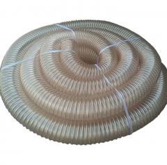 pu聚氨酯镀铜伸缩钢丝吸尘管 软管工业吸尘管 木工机械波纹吸尘管