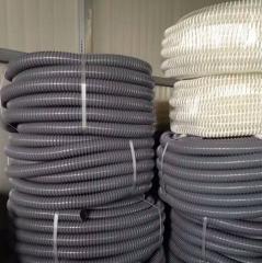镀铜钢丝加强型通风PU软管 0.63壁厚黑色排污吸尘软管25mm-300mm