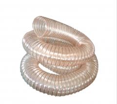 pu聚氨酯风管镀铜钢丝波纹管吸尘管钢丝伸缩软管工业木工机械吸尘