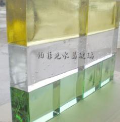 水晶玻璃砖定做厂家定制实心玻璃砖磨砂汽泡砖水波纹彩色背景墙砖 500-999 件