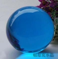 K9K5彩色水晶玻璃球黄色光球水晶工艺品定制水晶球厂家现货深圳 100-499 件