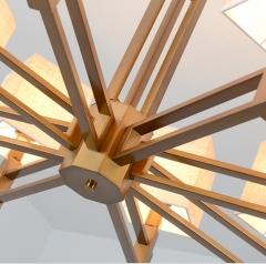 新中式客厅吊灯新中式禅意吊灯布艺简约吊灯