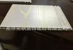 包覆PVC塑钢两圆V板衣柜门百叶板家居装修家用整体木塑衣柜门板 132*2750*9
