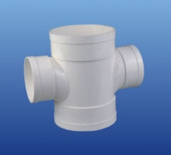 PVC-U排水90°异径顺水四通