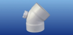 PVC-U排水45°带检口弯头 Φ110