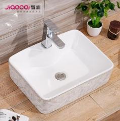 欧式艺术台盆家用卫生间陶瓷盆金灰石玟台上洗手洗脸盆直销厂家