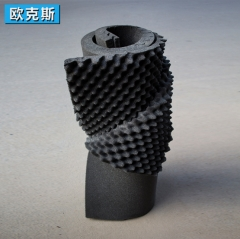 环保海绵波峰吸音棉 凹凸表面微孔状鸡蛋棉 橡塑新型吸音降噪材料 1M*2M