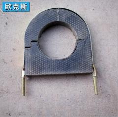 家装建材拼接环状管道固定托码 华美品牌中央空调PE材质保温材料 34*25