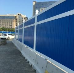 厂价直销 PVC塑钢围挡 市政围挡工地临建护栏 颜色 高度可定制