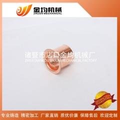 专业生产紫铜直接 规格齐全 空调制冷配件接头 螺纹直通