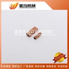 空调直通 厂家直销制冷铜配件紫铜管焊接加工 批量生产欢迎定制