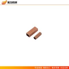 厂家供应紫铜t2直通管件 方管 用于焊接空调 制冷设备管道配件