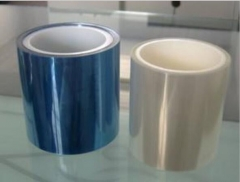 防刮双层三层PET保护膜 防爆膜 白色蓝色红硅胶pet保护膜 PU胶膜