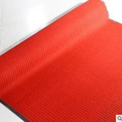 厂家直销双条纹地毯 入门入户地毯地垫 客厅卧室防滑地毯 可定制 大红