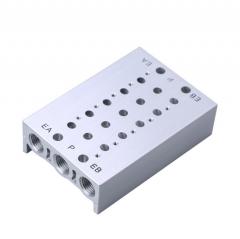 SMC型汇流板SY3120电磁阀底座5Y5-20系列集装2-20位垫片胶垫螺丝 2F