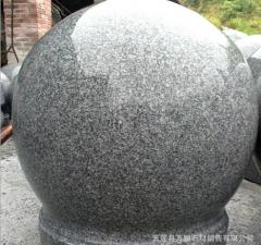 纯天然芝麻灰石球 定制花岗岩石球 选万鹏芝麻灰石球 自有矿山 直径200