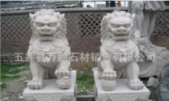 精品推荐五莲红石狮子 园林石狮子雕刻专业生产 选万鹏五莲红矿