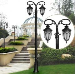 庭院灯LED双头景观铝制公园小区院子广场湖边路灯户外太阳能欧式 2.8米