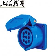 工业插座九芯 9孔多心插座 250V 10A蓝色欧标国标通用319 1-49 个